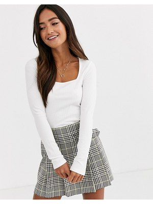 ASOS DESIGN square neck top in cream