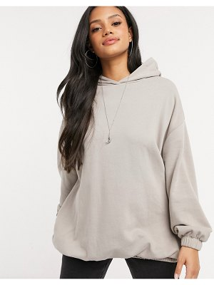 ASOS DESIGN super oversized cocoon hoodie with side pockets in coffee-brown