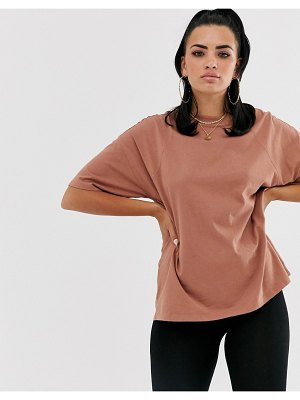 ASOS DESIGN super oversized t-shirt with seam detail in brown