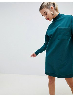 ASOS DESIGN sweat dress with patch pocket