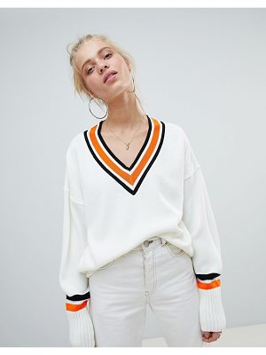 ASOS DESIGN sweater in oversize with tipping