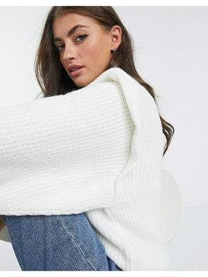ASOS DESIGN sweater with structured shoulder in cream