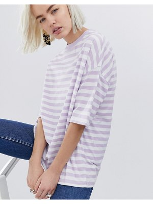 ASOS DESIGN t-shirt in super oversized fit in chunky stripe-purple