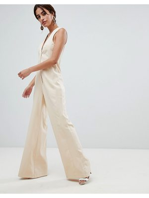 ASOS DESIGN Tailored Jumpsuit with Wide Leg