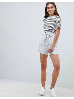 ASOS DESIGN tailored linen casual short with tie waist