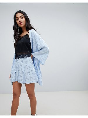 ASOS DESIGN tailored short in soft jacquard
