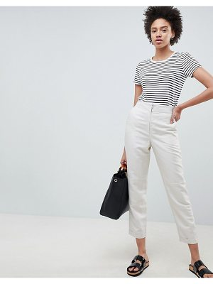 ASOS DESIGN tailored tapered desert pants