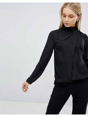 ASOS Top With Ruched High Neck