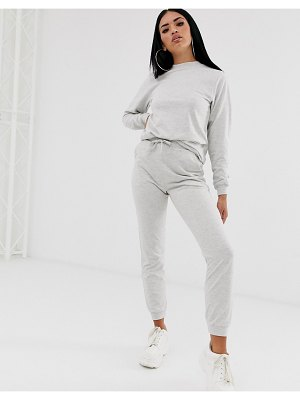 ASOS DESIGN tracksuit ultimate sweat / jogger with tie-gray