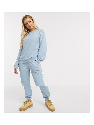 ASOS DESIGN tracksuit ultimate sweat / jogger with tie in organic cotton-blue
