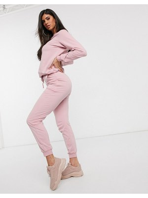 ASOS DESIGN tracksuit ultimate sweat / jogger with tie-pink