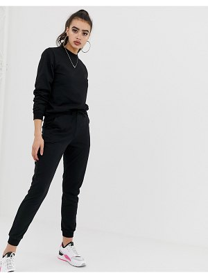 ASOS DESIGN tracksuit ultimate sweat / jogger with tie-black