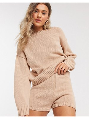 ASOS DESIGN two-piece crew neck sweater with long sleeve in pink