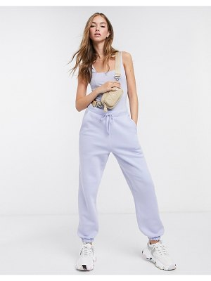 ASOS DESIGN two-piece mix and match sweatpants in dusty blue-green