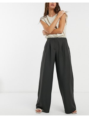 ASOS DESIGN ultimate slouch dad pants in charcoal-grey
