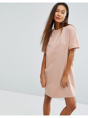 ASOS DESIGN ultimate t-shirt dress with rolled sleeves