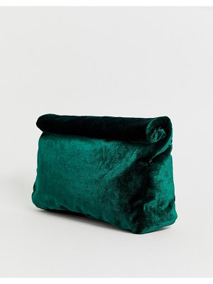 ASOS DESIGN velvet roll top clutch