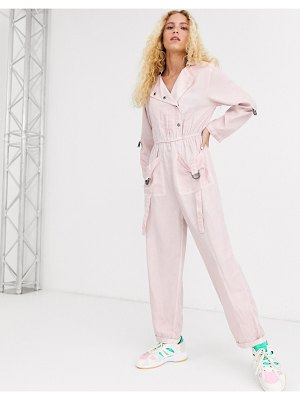 ASOS DESIGN washed boilersuit with d-ring detail