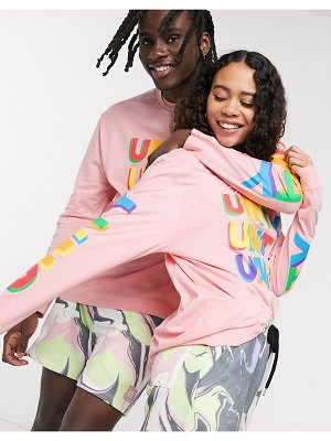 ASOS DESIGN x glaad & unisex oversized long sleeve t-shirt in pink unity print