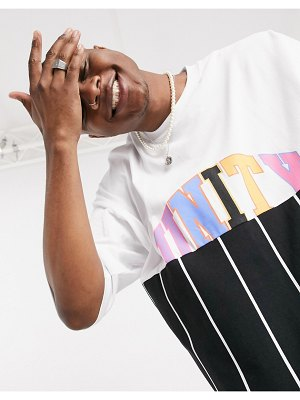 ASOS DESIGN x glaad unisex oversized t-shirt with unity splice and stripe-multi