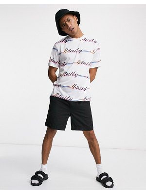 ASOS DESIGN x glaad unisex relaxed t-shirt with all-over unity print-white