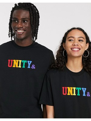 ASOS DESIGN x glaad & unisex t-shirt with unity logo in black