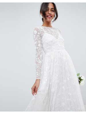 ASOS Edition ASOS EDITION all over embellished and embroidered wedding dress