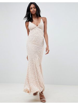 ASOS Edition ASOS EDITION all over embellished strappy back maxi dress