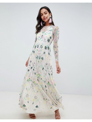 ASOS Edition asos edition delicate floral embellished maxi dress