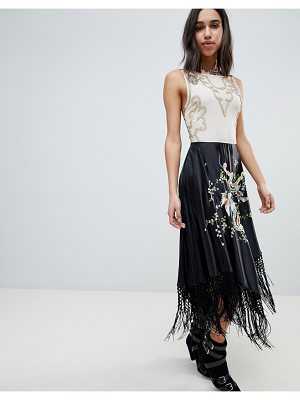 ASOS Edition ASOS EDITION Embroidered And Embellished Dragon Midi Dress With Tassels