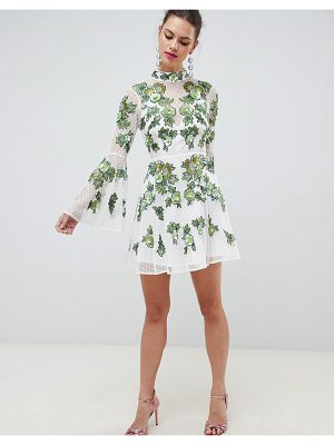 ASOS Edition ASOS EDITION floral embroidered and embellished mini skater dress