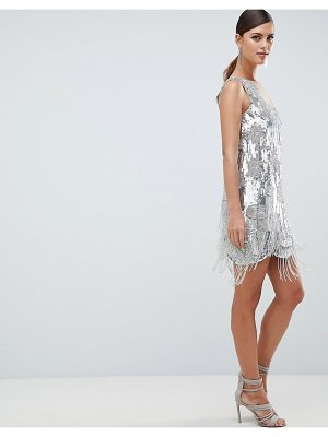 ASOS Edition ASOS EDITION Mini Dress In All Over Sequins And Tassel Fringe