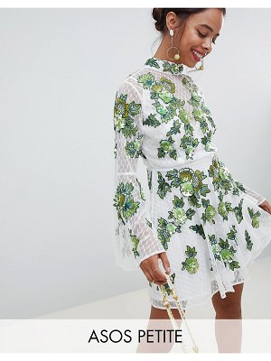 ASOS Edition ASOS EDITION Petite floral embroidered and embellished mini skater dress