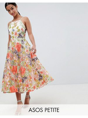 ASOS Edition ASOS EDITION Petite halter neck embroidered prom dress