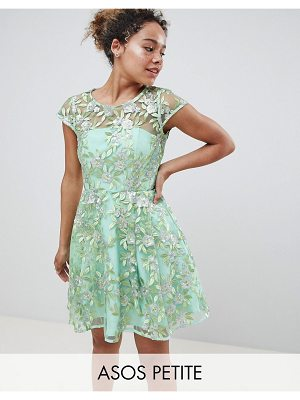 ASOS Edition ASOS EDITION Petite sequin embroidered skater mini dress