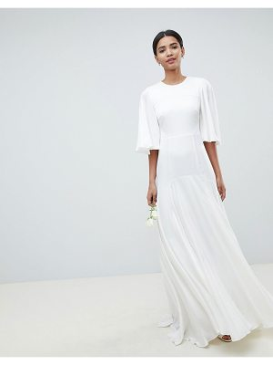ASOS Edition ASOS EDITION wedding dress with open back and flutter sleeve