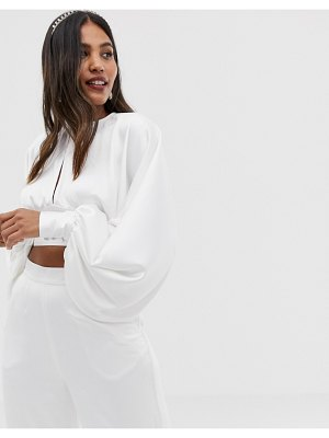 ASOS Edition blouson top with open back