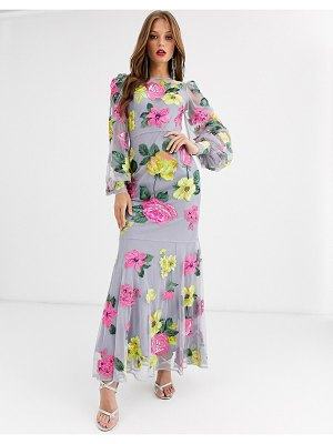 ASOS Edition bright floral embroidered maxi dress-multi
