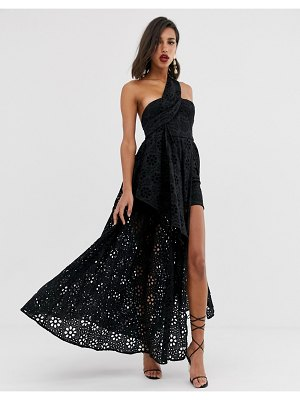 ASOS Edition broderie dress with maxi skirt overlay