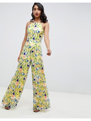 ASOS Edition floral embroidered halter jumpsuit