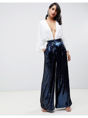 ASOS Edition high waisted sequin wide leg pants
