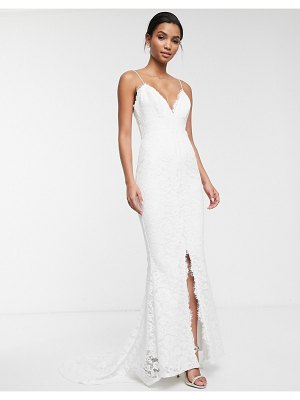 ASOS Edition lace cami wedding dress-white
