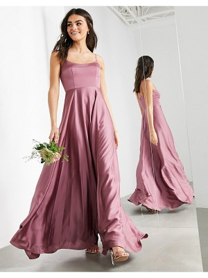 ASOS Edition satin cami maxi dress with square neck in orchid-purple