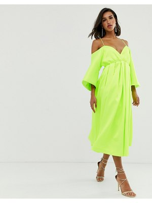 ASOS Edition strappy structured trapeze dress