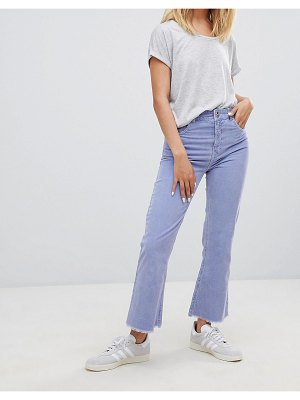 ASOS DESIGN Egerton rigid cropped flare jeans in dusty lilac cord