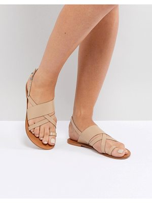 ASOS FINLEY Leather Flat Sandals