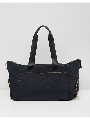 ASOS asos gold zipped carryall with sneaker compartment