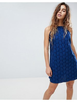 ASOS Low Back Mini Sundress in Heart Broderie