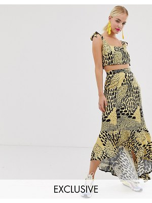 ASOS MADE IN kenya midi skirt in animal print-multi