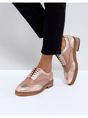 ASOS MUNICH Leather Flat Shoes